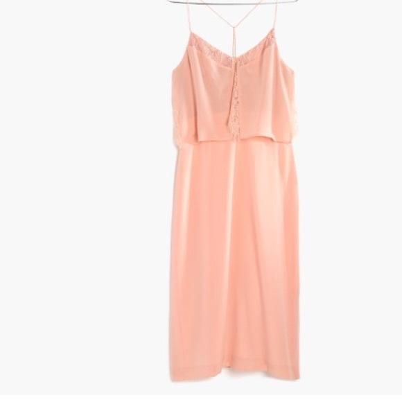 ac85948bb48 Madewell Dresses   Skirts - Madewell Silk lowlight lace-inset midi dress